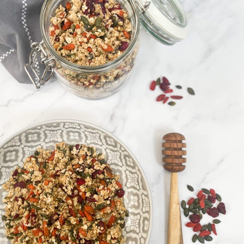 Homemade Granola – Cranberry, Goji & Apricot