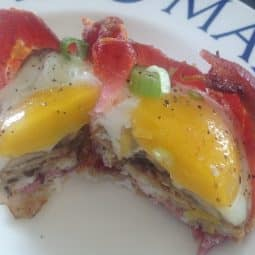 Bacon, Egg & Mushroom breakfast cups