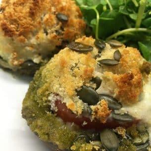 Mozzarella Stuffed Portobello Mushrooms