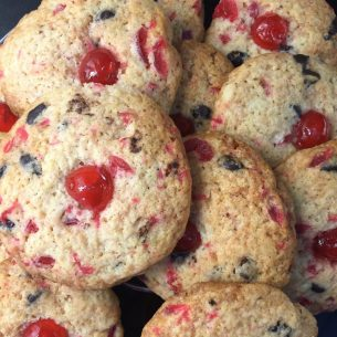 Cherry & Chocolate Chip Biscuits