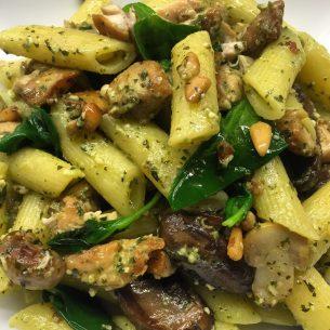 Chicken Pesto & Pine-Nut Pasta