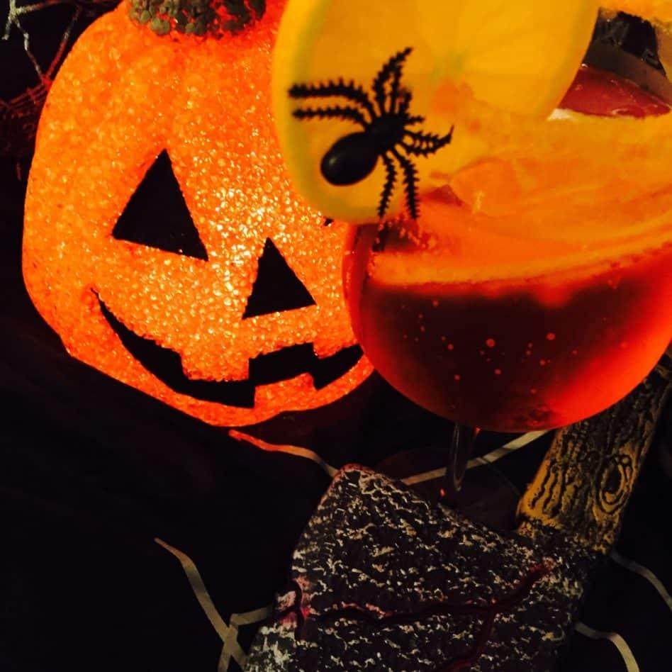 Halloween Cocktail  – Fiendish Fizz…..