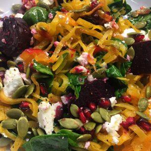 Butternut Beetroot Salad :-)
