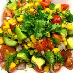 Easy Avocado Salsa with Sweetcorn