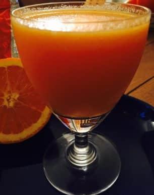 Sharon fruit smoothie…. sunshine