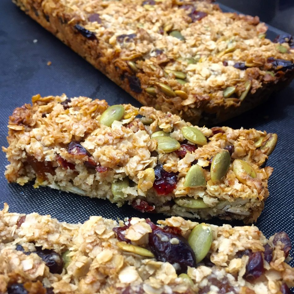 Breakfast Bars made with Coconut oil