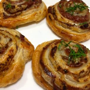Puff Pastry Pate Whirls!
