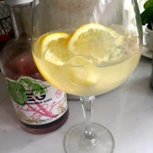 Rhubarb Gin Ginger Cocktail! Easy and delicious!