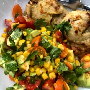 Lime Chicken with Avocado Salsa