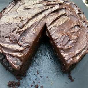 VEGAN Chocolate cake (cocoa bean)