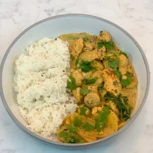 Easy Chicken Curry Slimming Style