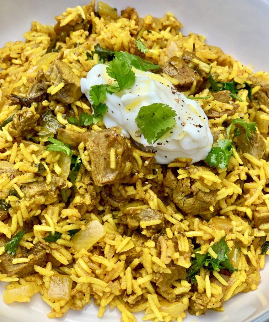 Lamb Biriyani - served
