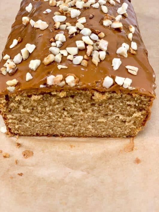Easy Coffee Cake cut cake glaze