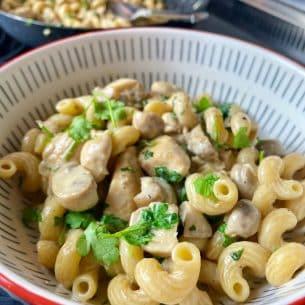 Chicken & Mushroom Pasta, healthy