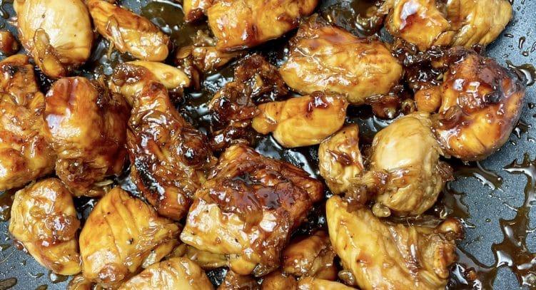 Easy Sticky Chicken, slimming style