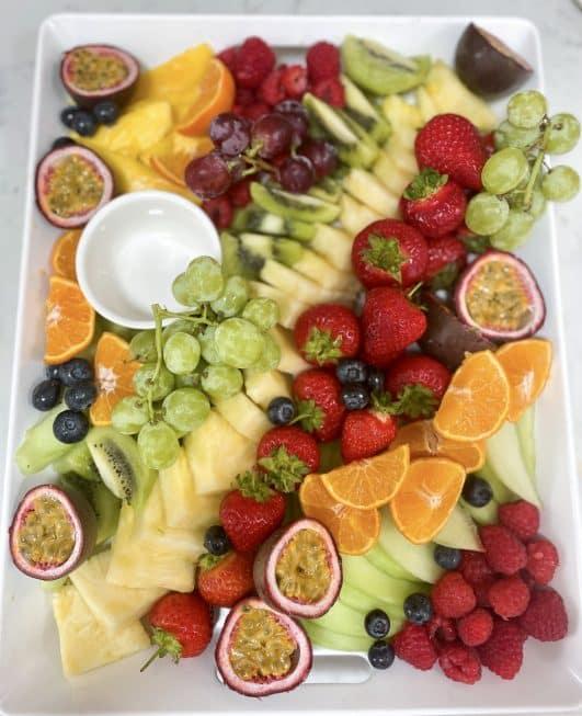 Fruit grazing platter