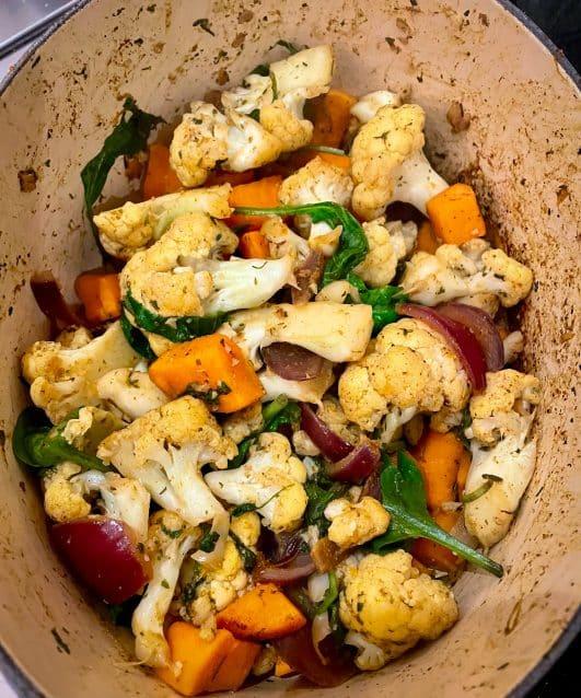 Veggie Tikka Biryani - in a pan